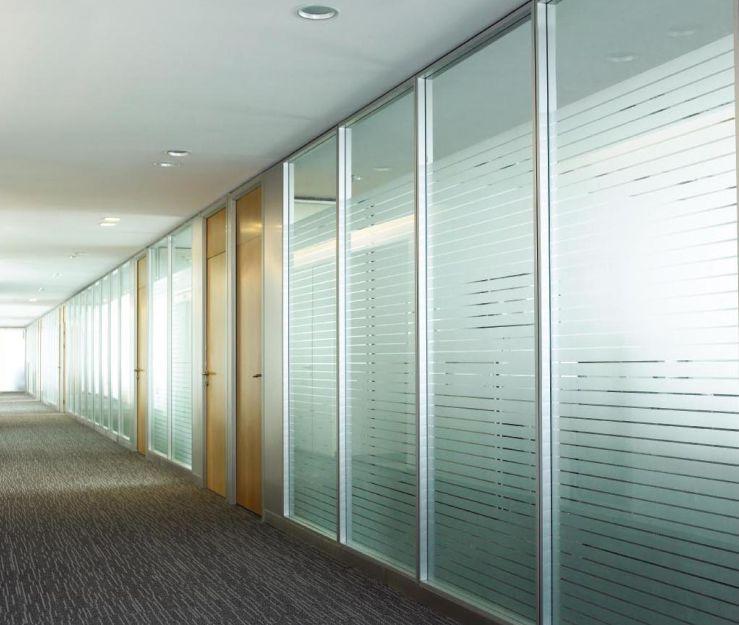 单层铝合金隔断,办公成品隔断,办公高隔间