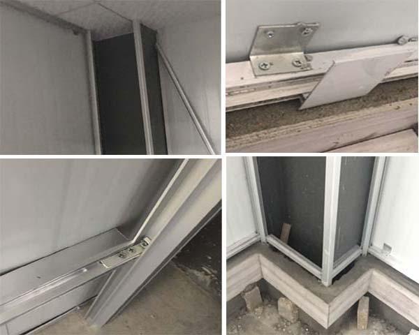 德州双波百叶和单面烤漆玻璃隔断(晶鼎泰机械案例)