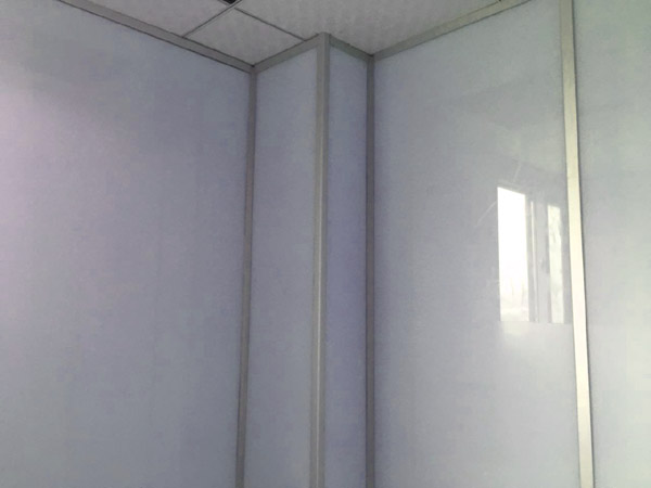 德州烤漆玻璃隔断,单面包墙烤漆隔断