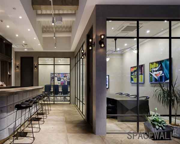 五家渠设计公司玻璃隔断效果案例欣赏