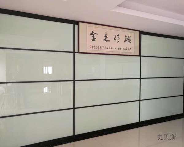 烤漆玻璃隔断墙