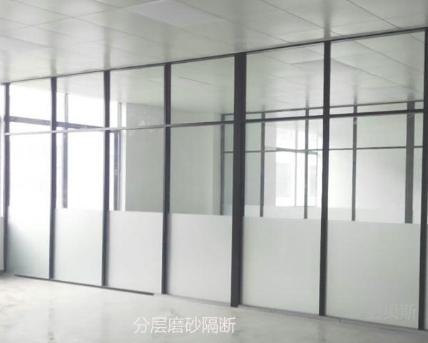 磨砂玻璃隔断案例